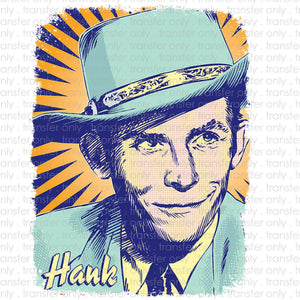 Hank Sr. Pop Art Sublimation Transfer