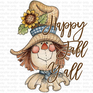 Happy Fall Scarecrow Sublimation Transfer