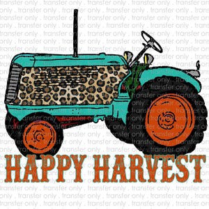 Happy Harvest Tractor Sublimation Transfer