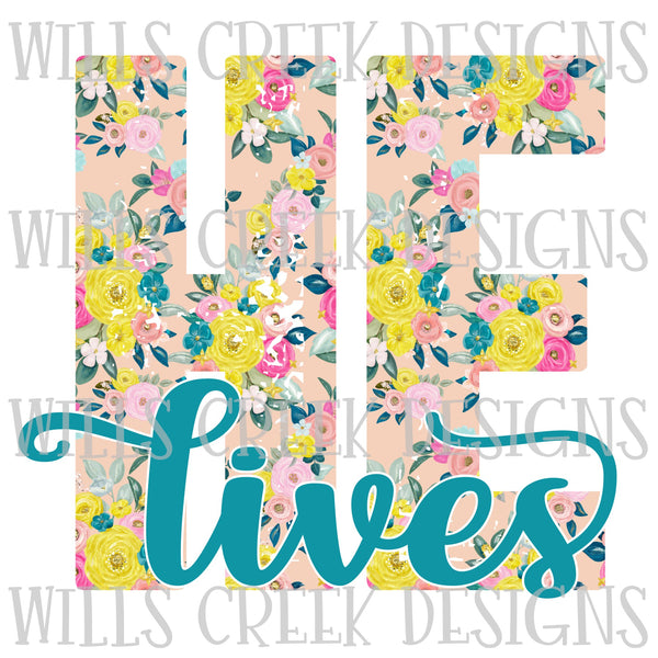 He Lives Floral Digital Download
