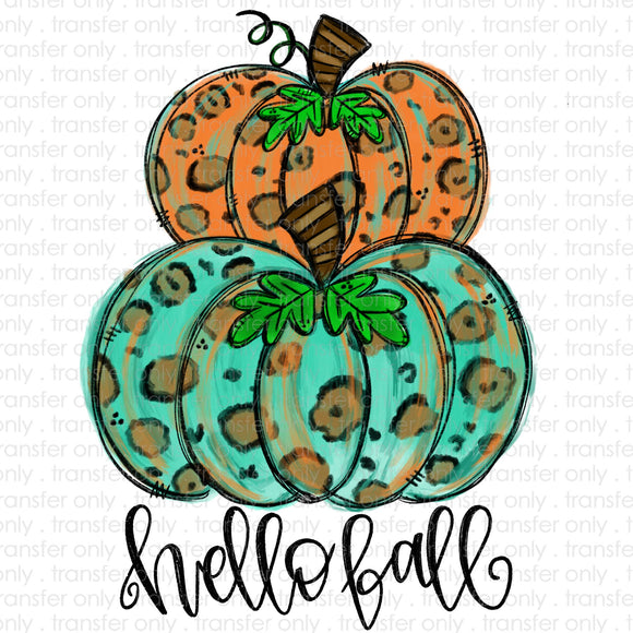 Hello Fall Pumpkins Sublimation Transfer