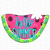 Hello Summer Watermelon Heat Transfer Vinyl Transfer