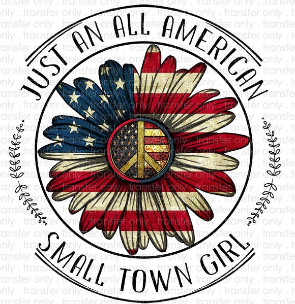 Small Town American Girl Sublimation Transfer