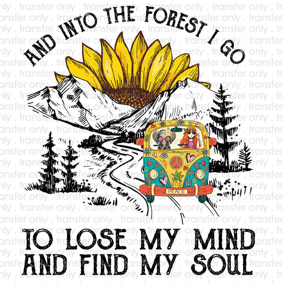 Into the Forest I Go Hippie Van Sublimation Transfer