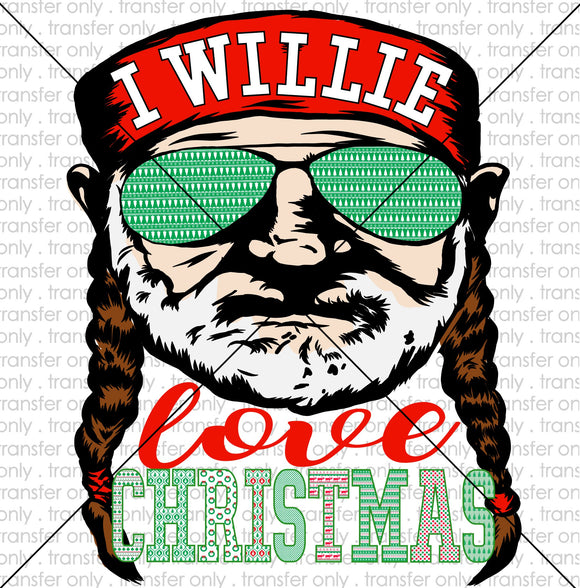 I willie love christmas Sublimation Transfer