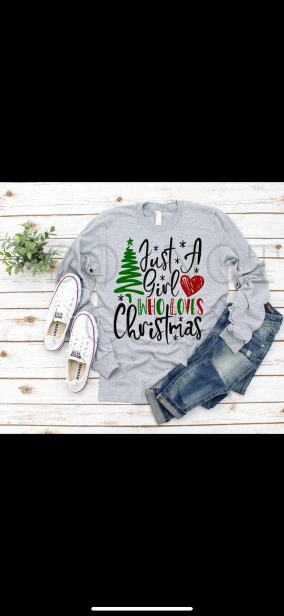 Just a girl who loves Christmas sublimation transfer