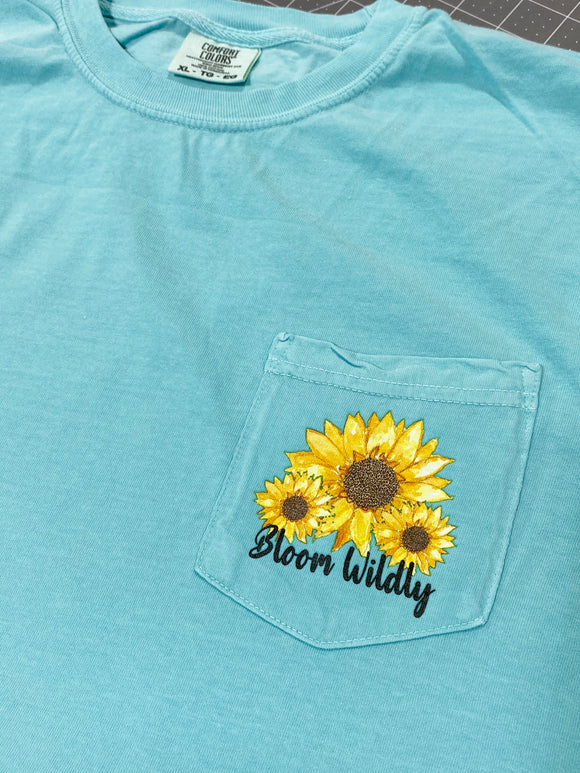 Bloom Wildly Sunflower Pocket Size Screen Print Transfers P62