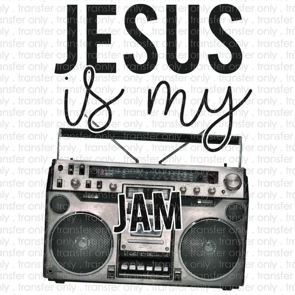 Jesus Is My Jam Sublimation Transfer