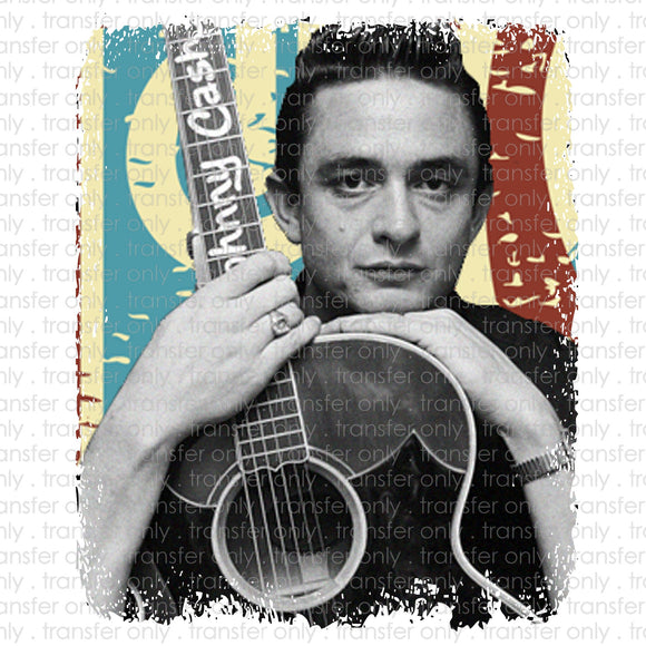Johnny Cash Sublimation Transfer
