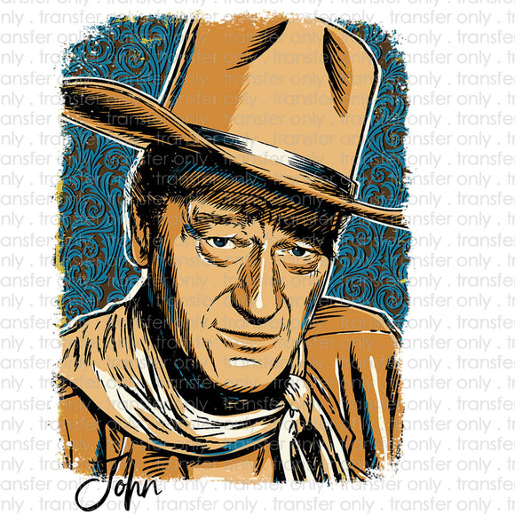 John Wayne Pop Art Sublimation Transfer