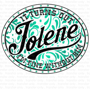 Jolene Sublimation Transfer