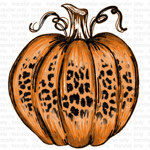 Leopard Pumpkin Sublimation Transfer