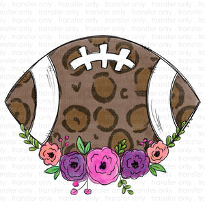 Leopard Floral Football Sublimation Transfer