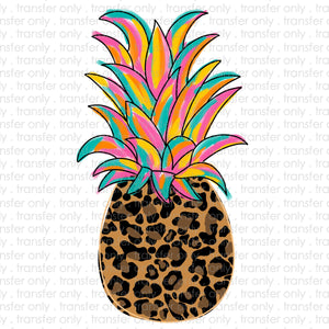Leopard Pineapple Sublimation Transfer
