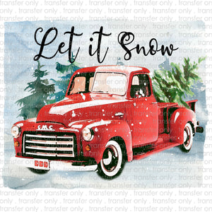 Let it Snow Truck Sublimation Transfer