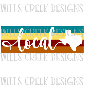 Texas Local Stripes Digital Download