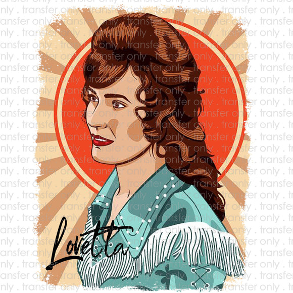Loretta Pop Art Sublimation Transfer