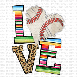 Love Serape Baseball Sublimation Transfer