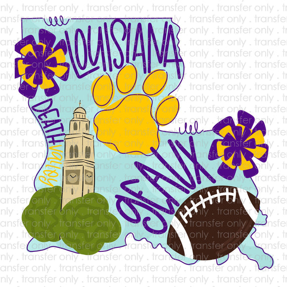 LSU State Sublimation Transfer