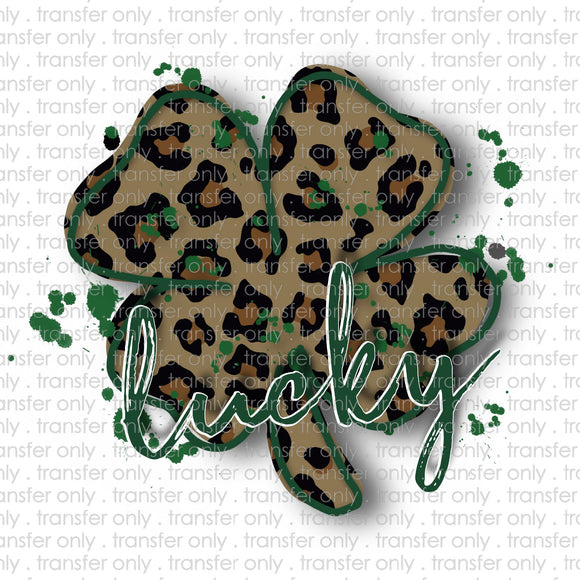 Lucky Leopard Clover Sublimation Transfer