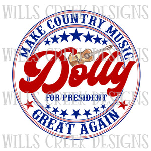 Make Country Music Great Again Sublimation Transfer