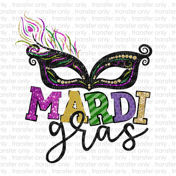 Mardi Gras Mask Sublimation Transfer