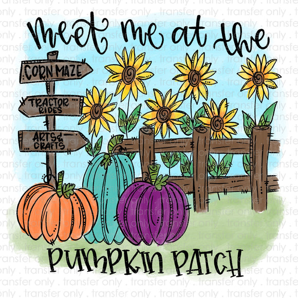 Meet me at the Pumpkin Patch Sublimation Transfer