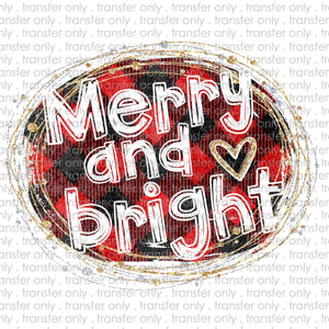 Merry and Bright Sublimation Transfer
