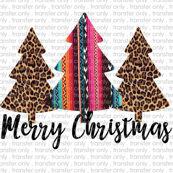Merry Christmas Trees Serape Digital Download