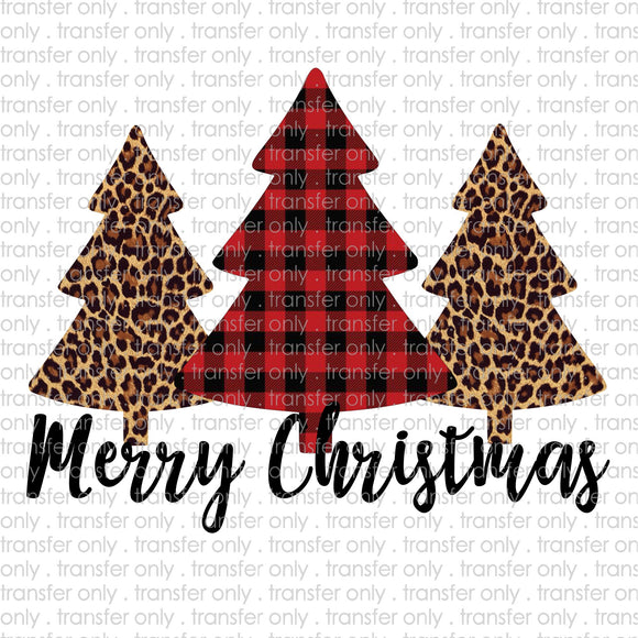 Merry Christmas Trees Buffalo Plaid Digital Download