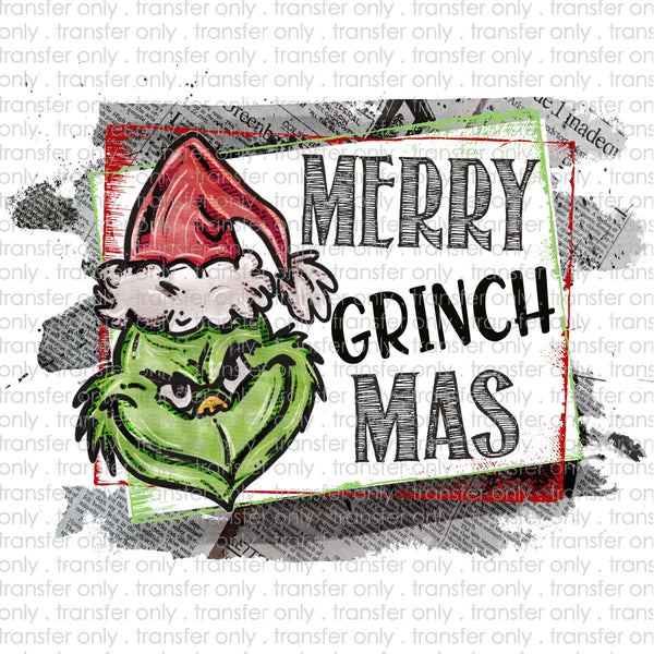 Merry Grinchmas Sublimation Transfer