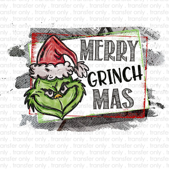 Merry Grinchmas Hat Sublimation Transfer