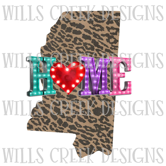 Mississippi Home Marquee Digital Download