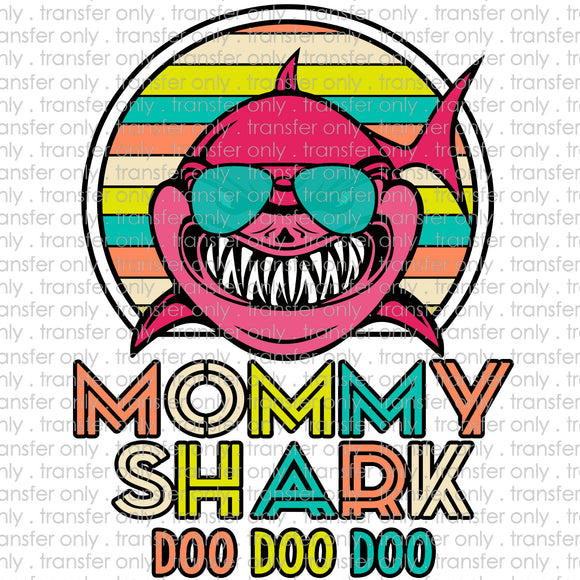 Mommy Shark Sublimation Transfer