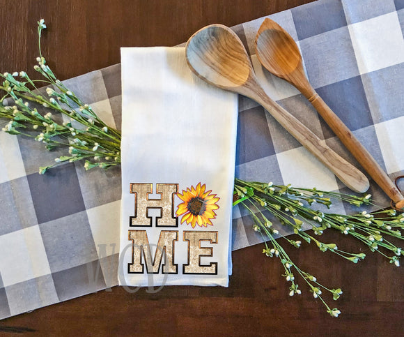 Home Sunflower Tea Towel Screen Print Transfers P82