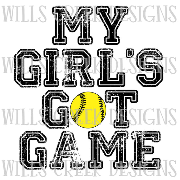 My Girls got Game Sublimation Transfer