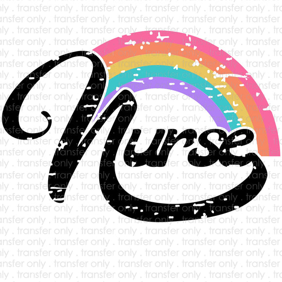 Nurse Rainbow Sublimation Transfer