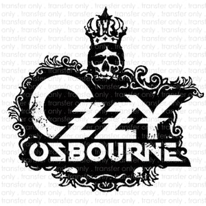 Ozzy Ozbourne Sublimation Transfer