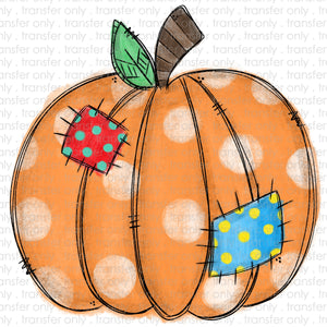 Patchwork Pumpkin Sublimation Transfer