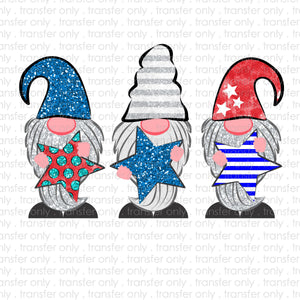 Patriotic Gnomes Sublimation Transfer