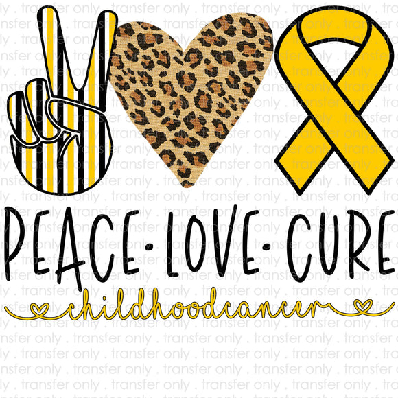 Peace Love Childhood Cancer Sublimation Transfer