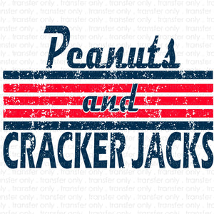 Peanuts and Cracker Jacks Sublimation Transfer