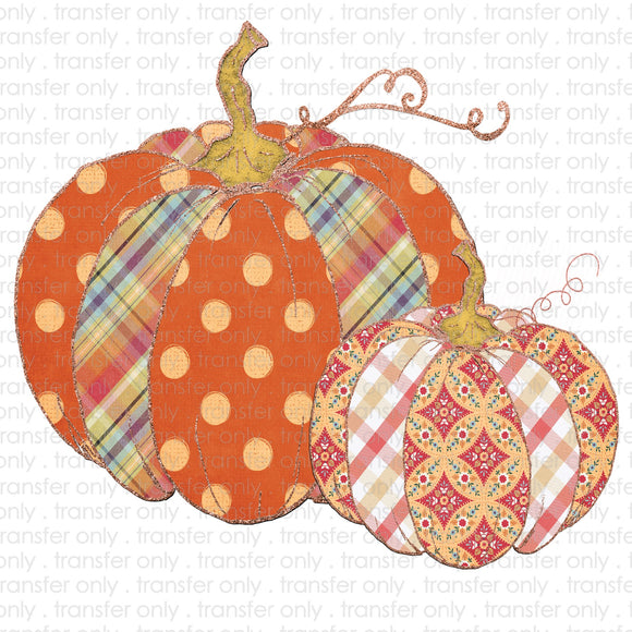 Pumpkin Patchwork Sublimation Transfer
