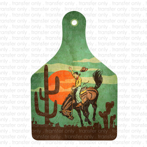 Rodeo Tag Sublimation Transfer