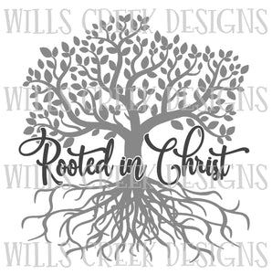 Rooted In Christ Sublimation Transfer