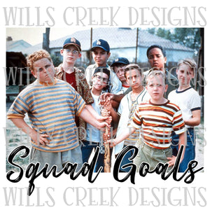 Sandlot Squad Goals Sublimation Transfer