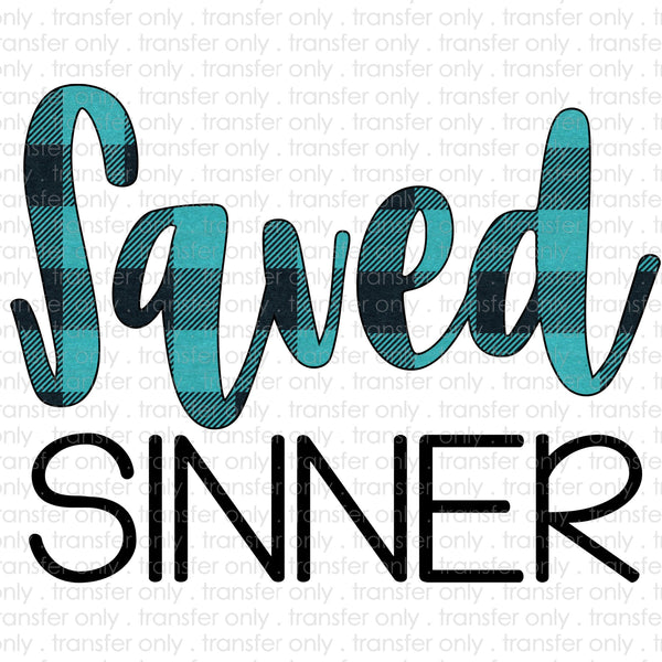 Saved Sinner Sublimation Transfer