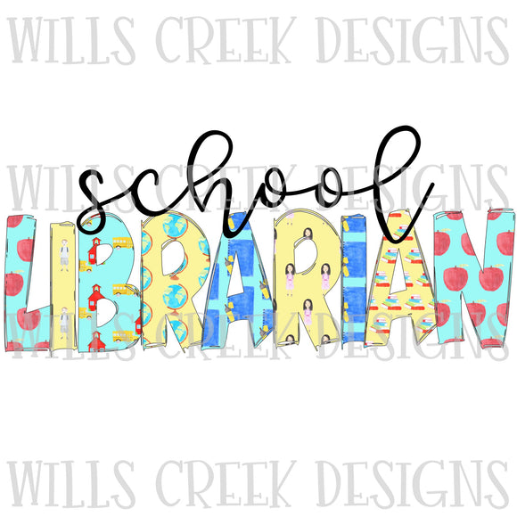 School Librarian Sublimation Transfer