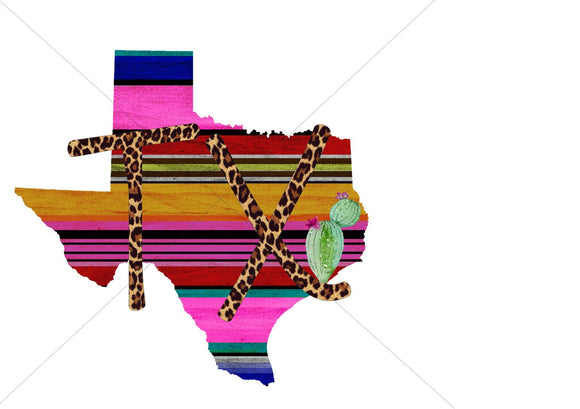 Serape Tx Sublimation Transfer