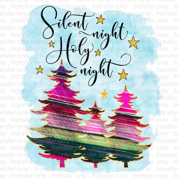 Silent Night Sublimation Transfer